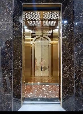 thang máy gia đình bằng inox gương đẹp lung linh