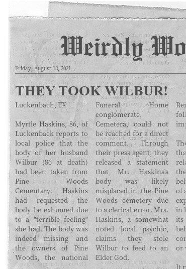 Poor Wilbur