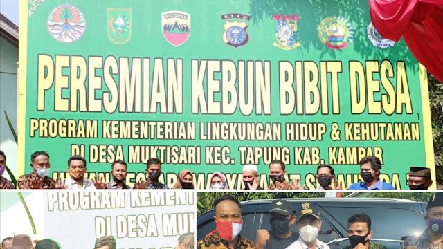"Menteri LHK RI ""Siti Nurbaya Bakar"" Resmikan Bibit Desa Pemanfaatan Hutan di Riau"