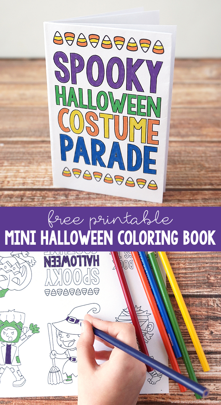 Free Printable Mini Halloween Coloring Book