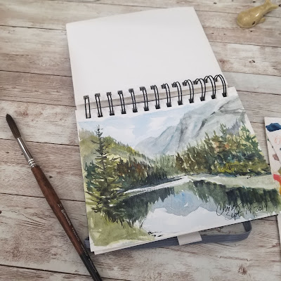 A sketch book for watercolor on the go or planning.  © 2021 Christy Sheeler Artist