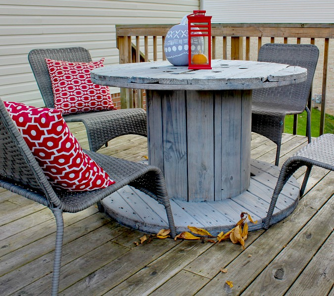 Trashtastic Tuesday- Spool Table Makeover