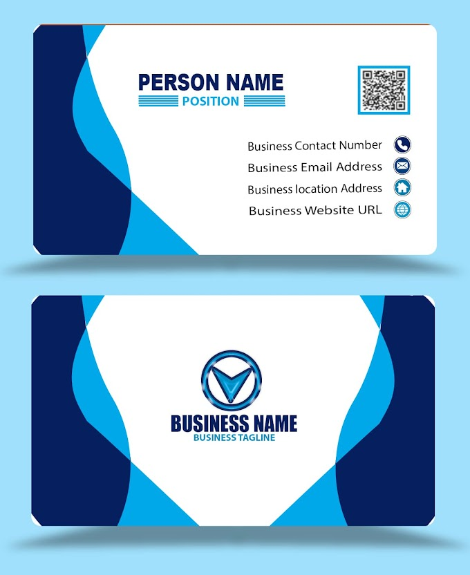 blue red visiting card design eps psd formats free download