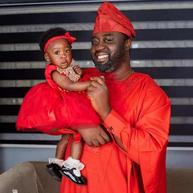 Mercy Johnson, a Nollywood star, and her husband Prince Okojie have devoted their last born to a church