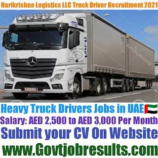 Hari Krishna Shipping and Logistics LLC Heavy Truck Driver Recruitment 2021-22