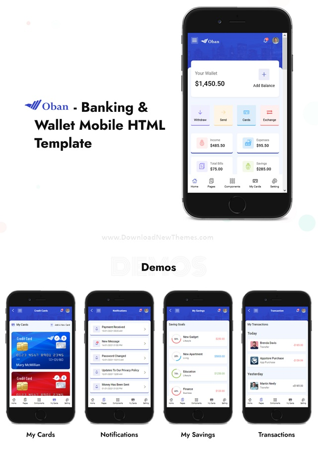 Banking and Wallet Mobile Template