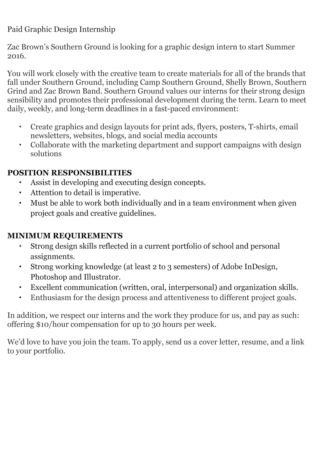 Graphic design intern resume fieldstation graphic design intern resume madrichimfo Images