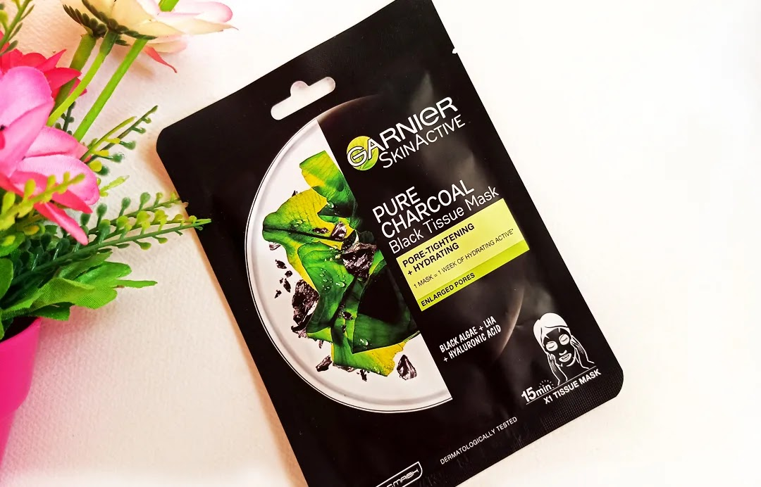 Garnier Υφασμάτινη Μάσκα Ενυδάτωσης Προσώπου με Ενεργό Άνθρακα
