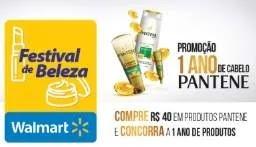 Cadastrar Promoção Walmart Festival de Beleza 1 Ano Kits Pantene Grátis