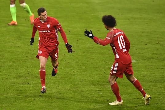 مشاهدة ملخص اهداف مباراة  بايرن ميونخ و فولفسبورج (2-1) في  الدوري الألماني