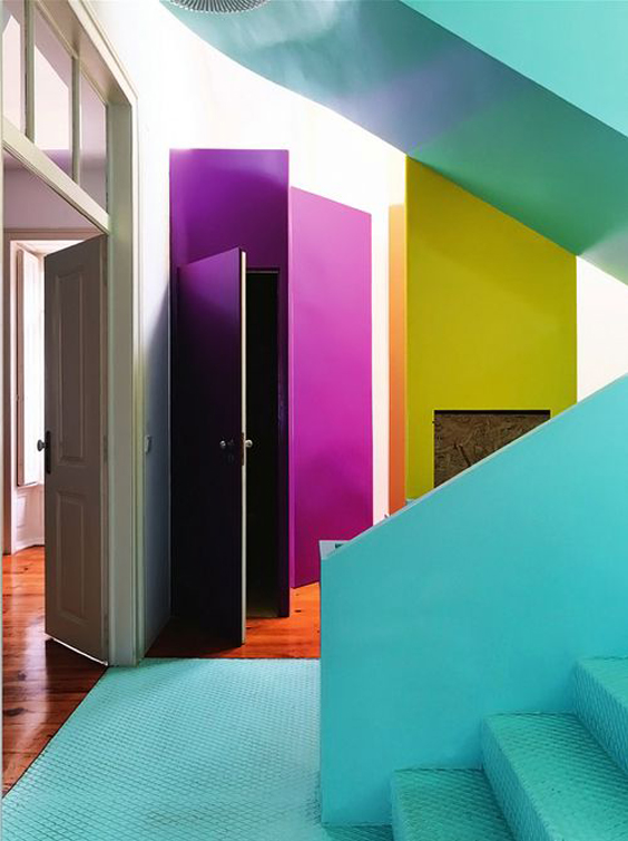 blog deco loversofmint - idees murs multicolors
