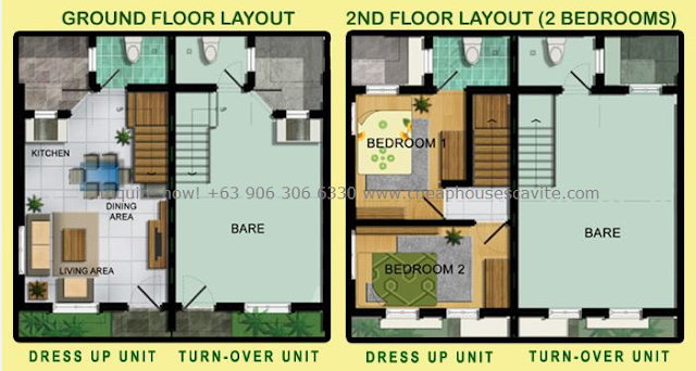 Emerald Residences Pag-ibig House for Sale in Tanza Cavite Foor plan