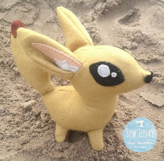 Fox in the sand