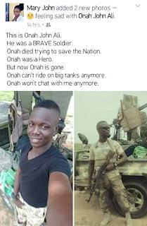 boko haram, Crime, Killed, Nigeria soldier, Onah john Ali,