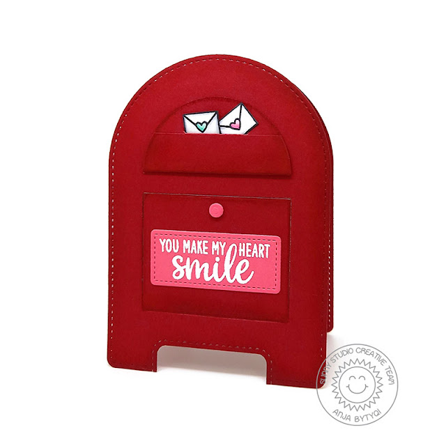 Sunny Studio Stamps; Snail Mail Stitched Arch Dies Friendship Card by Anja Bytyqi