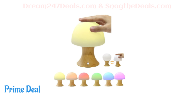 40.03% OFF  SOLMORE LED Night Light Mushroom Timing Lamp Simulation Wooden Lamp
