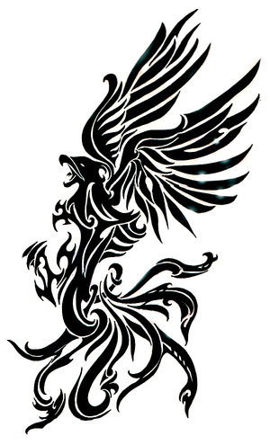 Phoenix Tribal Tattoo Design  Tattoo Picture, Photos And