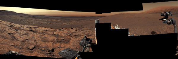 A panorama taken by NASA's Curiosity Mars rover on November 18, 2020.