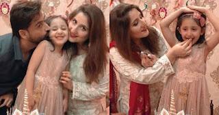 Sami Khan and Shanzay celebrating their daughter Mahnoor Birthday