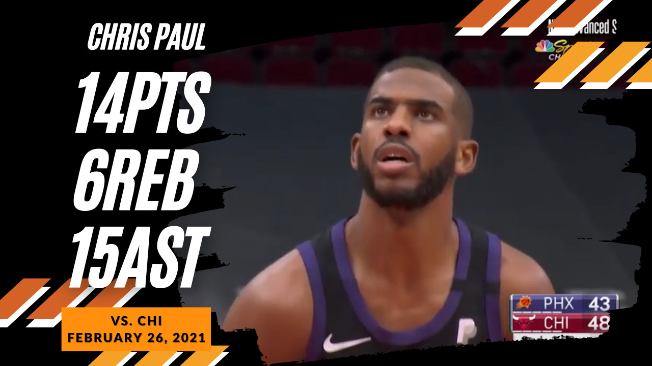 Chris Paul 14pts 6reb 15ast vs CHI | February 26, 2021 | 2020-21 NBA Season