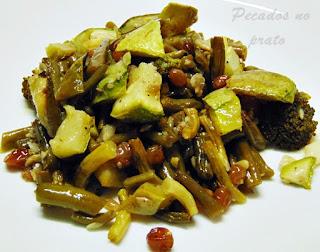 Receita de legumes gratinados com sementes