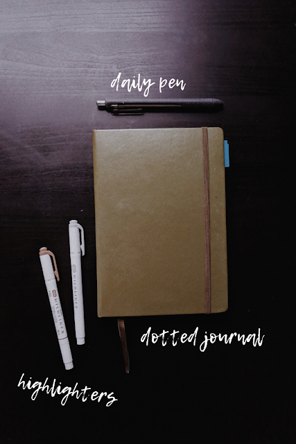 supplies for bullet journal
