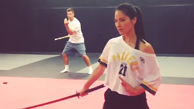 olivia munn sword training