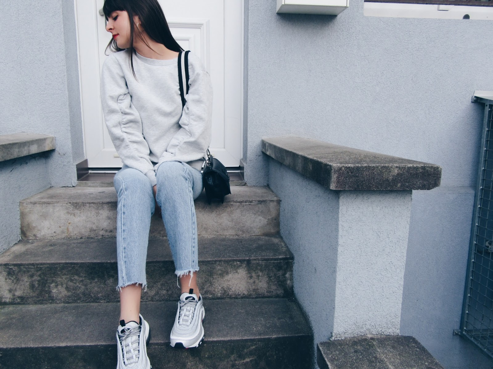 AIR MAX 97 SILVER: DENIM AND GREY LOOK | DOPE & FRINGED