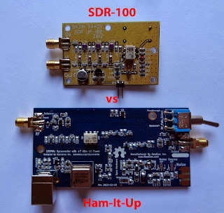 RTL-SDR, shortwave, comparison, shootout, review, Ham-It-Up, SDR Up 100, adapter, SDRSharp