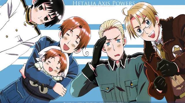 Hetalia Axis Power - Anime Mirip Hataraku Saibou Terbaik