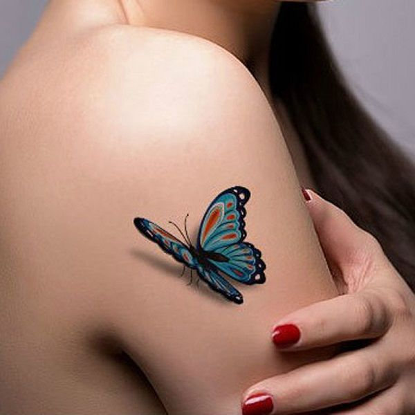 Awesome 3D Butterfly Tattoos