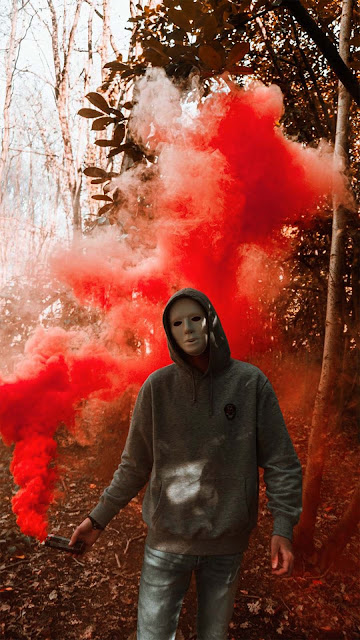 19 Smoke Colored illusion Mask Wallpapers HD for Android and iPhone