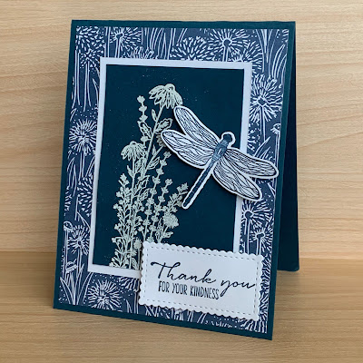 Dragonfly Greeting Card using Dragonfly Garden Stamp Set