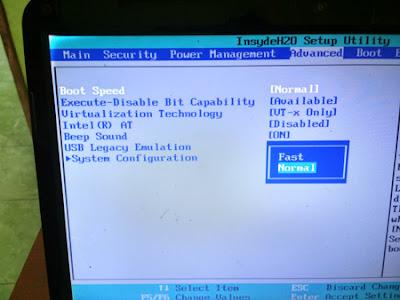 Senting BOOT Laptop Toshiba Agar Tampil Taat Dihidupkan
