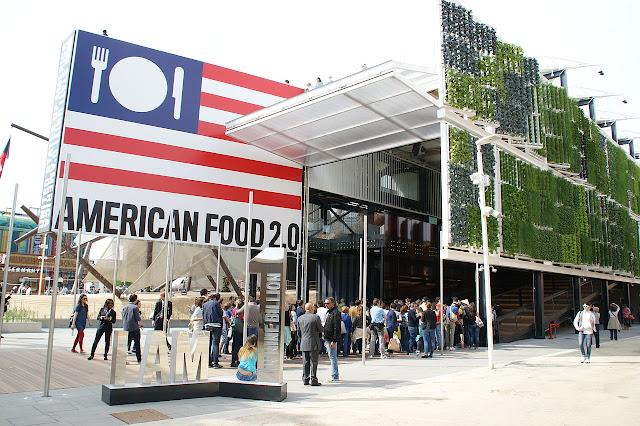 Cultivos verticales del pabellón de Estados Unidos en la Expo Milán 2015
