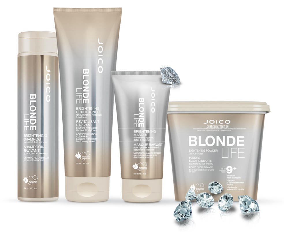 Hair Colourers Who Are Choosing To Go Blonde Life A Lightening And Brightening System Just For Blondes Because Joico Understands That Being