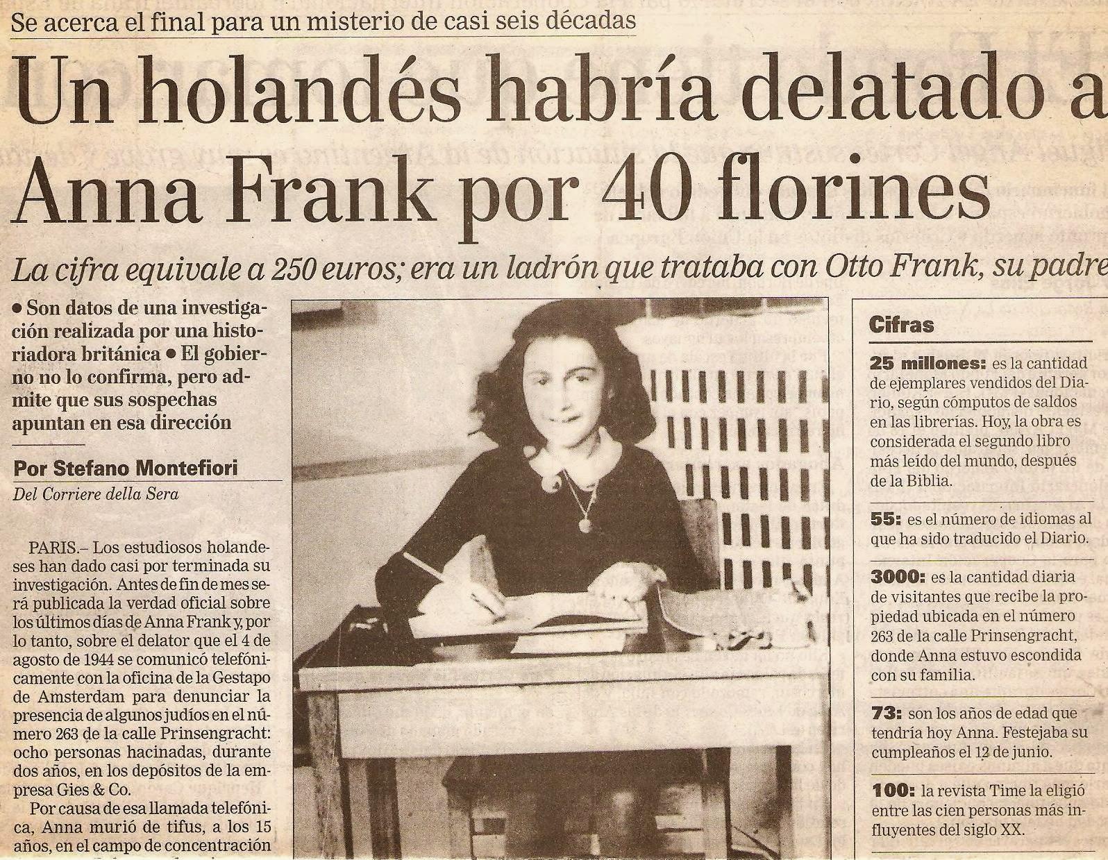 De La Boca Al Corazón El Precio De La Vida De Ana Frank El Precio
