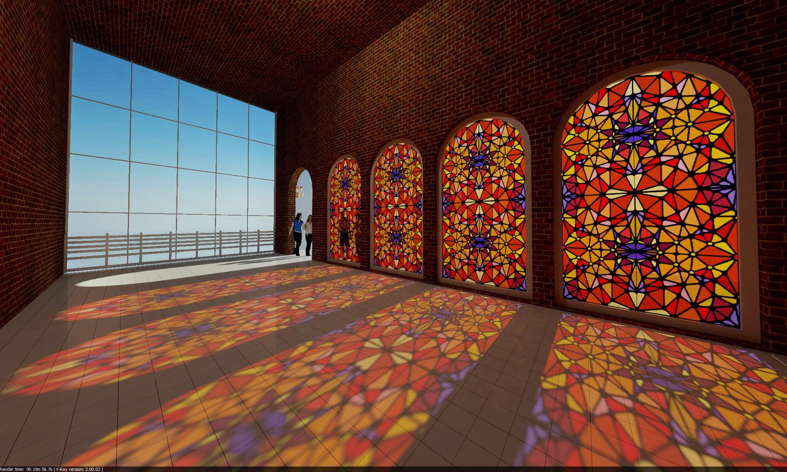 Render Master At Work Stained Glass Tutorial In Sketch Up
