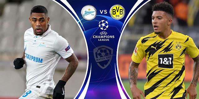 Zenit vs Borussia Dortmund Prediction & Match Preview