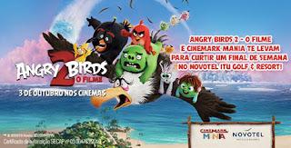 Promoção Cinemark Mania e Angry Birds 2