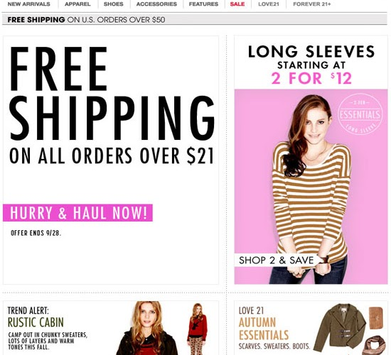 Forever21.com | Online Free Shipping Sale! 3-Days Only