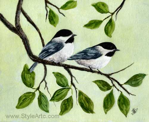 Chickadee Art