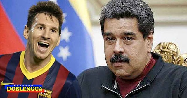 Maduro lloró como magdalena cuando vio a Messi salir del Barça