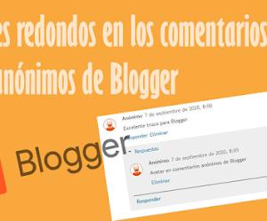 Avatares redondos en los comentarios anónimos de Blogger