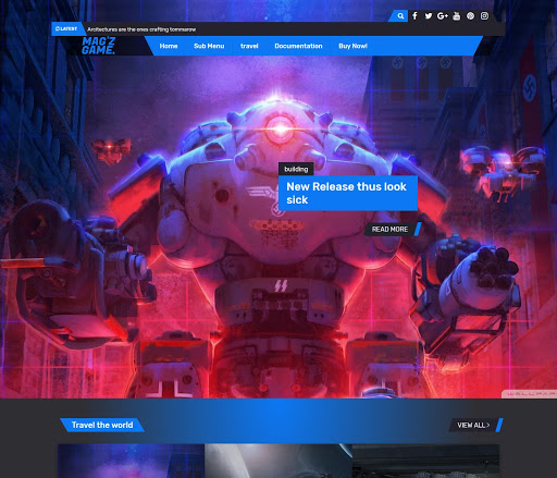 MagZ Game Blogger Template Download