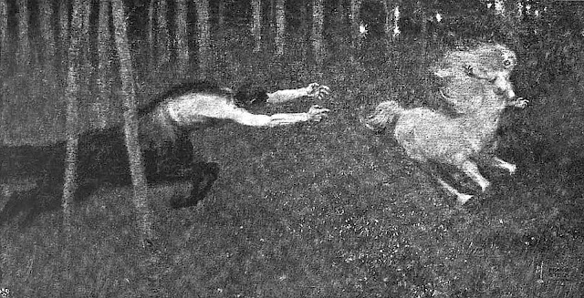 a Franz von Stuck image of centaur lust