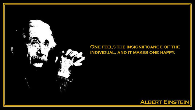 One feels the insignificance of the individual, and it makes one happy Albert Einstein quote