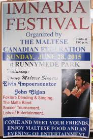 Imnarja Toronto Maltese Festival June 28, 2015, poster