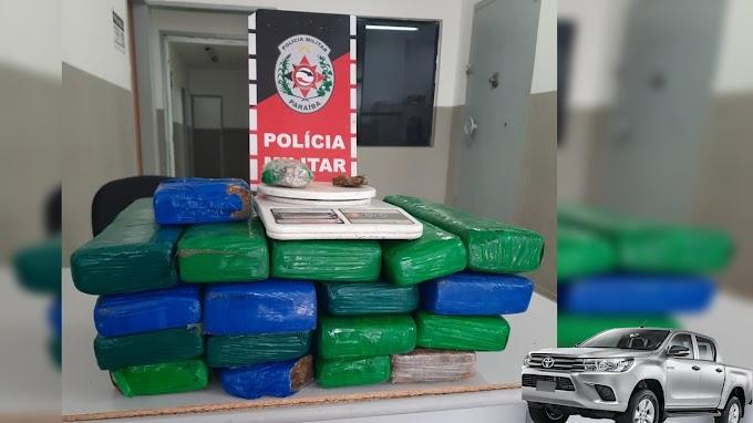 POLÍCIA MILITAR APREENDE CERCA DE 19 QUILOS DE ENTORPECENTES EM TEIXEIRA-PB