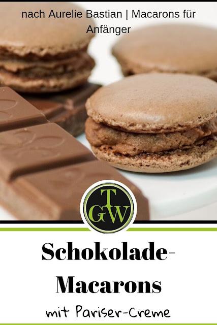 Rezept für einfache Schoko-Macarons gefüllt mit Pariser-Creme. Einfach und schnell, aber himmlisch! #schokolade #macarons #schokomacarons #topfgartenwelt